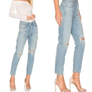 AGOLDE Jamie High Rise Distressed Jeans